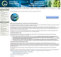International Low-Carbon Energy Technology Platform Screenshot