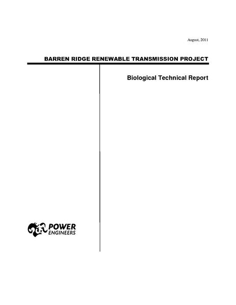 File:Barren Ridge FEIS-Volume IV Biology Tech Rpt August 2011.pdf