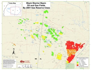 Black Warrior Basin By 2001 Gas Reserve Class