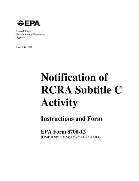 File:Notification of RCRA Subtitle C Activity Instructions and Form.pdf