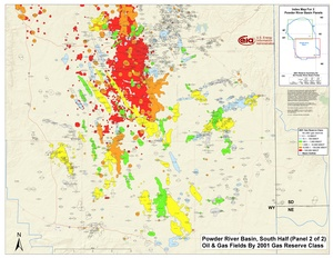 Powder River Basin, Southern Part By 2001 Gas Reserve Class