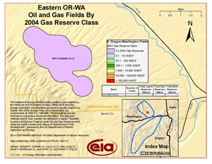 Eastern Oregon and Washington By 2001 Gas Reserve Class