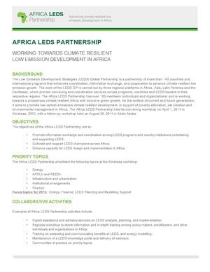 Africa LEDS Partnership Factsheet 2015.pdf