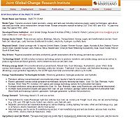 Object-Oriented Energy, Climate, and Technology Systems (ObjECTS) Global Change Assessment Model (GCAM) Screenshot