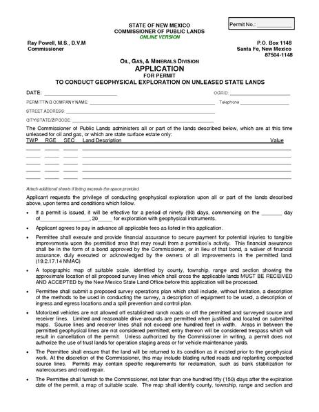 File:NMOCD Application for Permit to Conduct Geophysical Exploration on Unleased State Lands.pdf