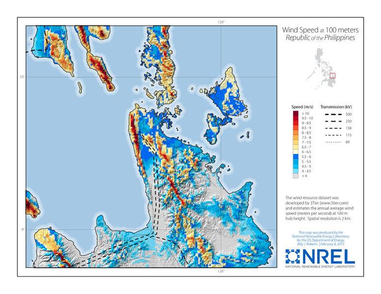 File:Northern Mindanao Phlippines Wind Speed 100m-01.jpg