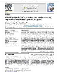 Computable General Equilibrium Models for Sustainability Impact Assessment: Status quo and prospects Screenshot