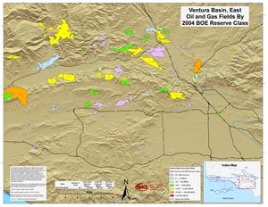 Ventura Basin, East Part By 2001 BOE Reserve Class