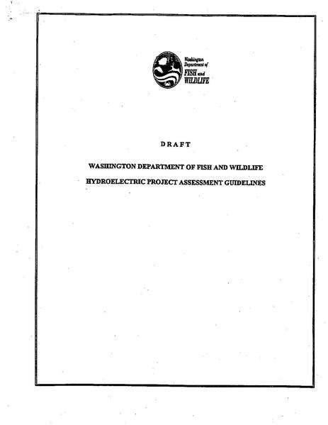 File:Washington Department of Fish and Wildlife Draft Hydroelectric Project Assessment Guidelines.pdf