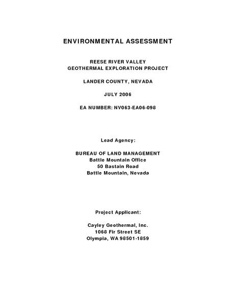 File:Reese River Valley Exploration EA.pdf