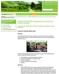 CIFOR/ICRAF Forests and Climate Training Screenshot