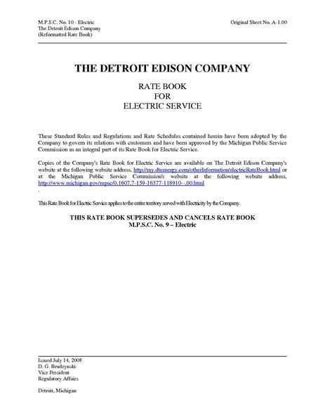 File:Utility Rate Ann Arbor Complete Book detroitEdisonTariff.pdf