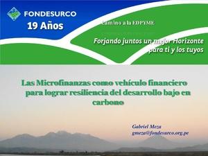 Gabriel Meza - Las Microfinanzas como vehículo financiero para lograr resiliencia del desarrollo bajo en carbono.pdf