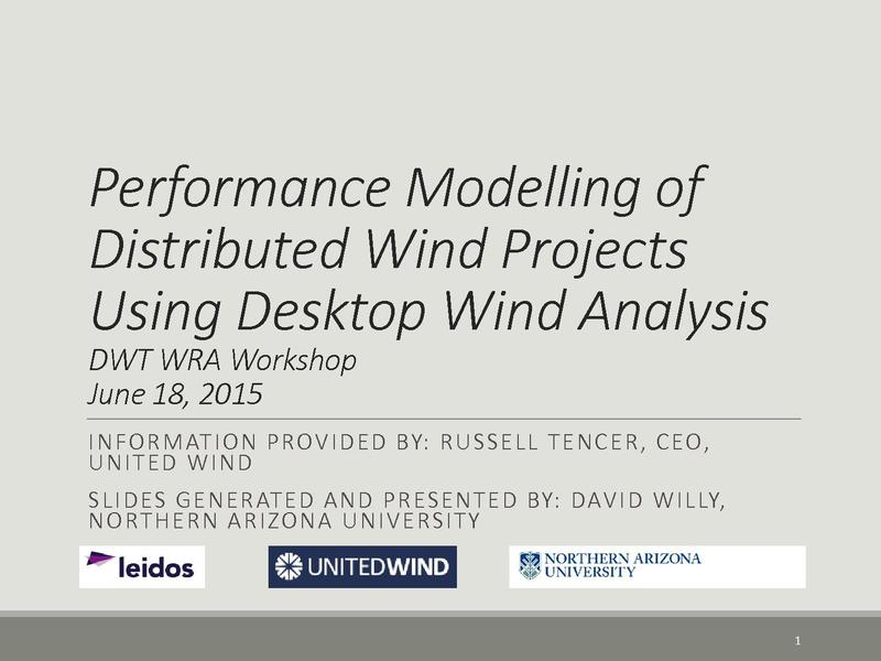 File:5 Performance Modelling of Distributed Wind Projects Using Desktop - 061615DW.pdf