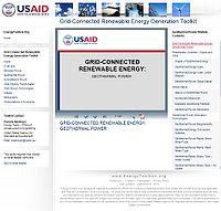 Grid-Connected Renewable Energy Generation Toolkit-Geothermal Screenshot
