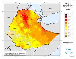 Ethiopia - Annual Direct Normal Solar Radiation