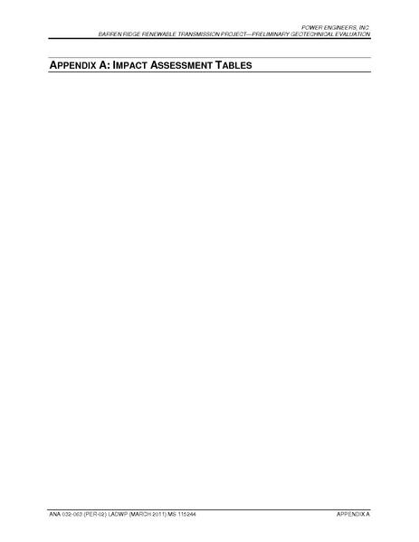 File:Barren Ridge FEIS-Volume IV Geo 02 App A Impact Assessment Tables.pdf
