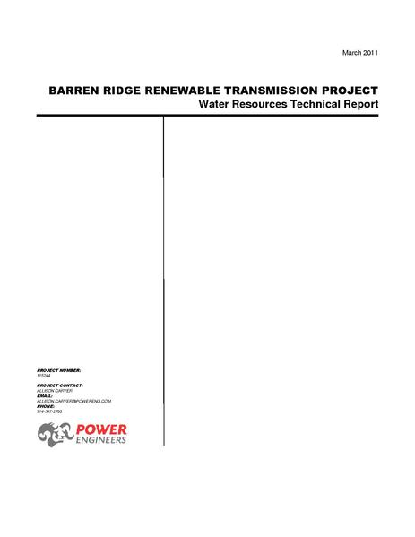 File:Barren Ridge FEIS-Volume IV Water Tech Rpt Rev F March 2011.pdf