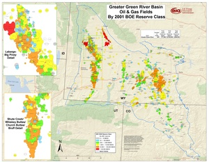 Greater Green River Basin By 2001 BOE Reserve Class