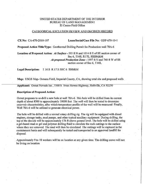 File:Ormat Geothermal Drilling Permit-Well 78A-6 CX-670 2010-107.pdf
