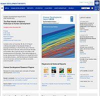 UNDP-Human Development Reports Screenshot
