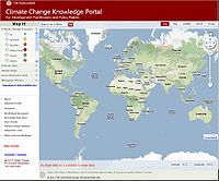 World Bank-Climate Change Knowledge Portal Screenshot