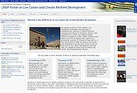 UNDP Low Carbon Portal Screenshot