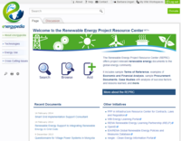 Renewable Energy Project Resource Center (REPRC) Screenshot