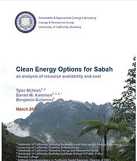 Clean Energy Options for Sabah: An Analysis of Resource Availability and Cost Screenshot