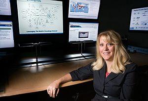 Debbie in NREL's VIBE Control Room
