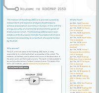 Europe - Roadmap 2050 Screenshot