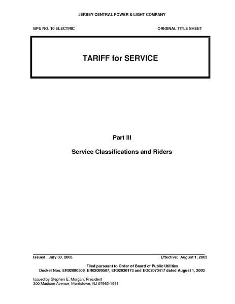 File:Utility Rate Jersey Central Power BPU 10 Part 3 - effective 10-1-08.pdf
