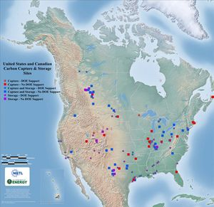 United States and Canadian Carbon Capture & Storage Sites