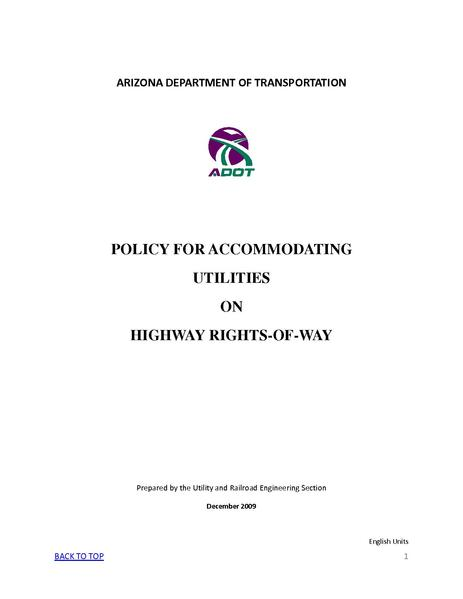 File:ADOT Policy for Accommodating Utilities on Highway Rights-Of-Way.pdf