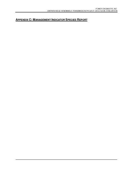 File:Barren Ridge FEIS-Volume II APP I Biological Evaluation Appendix C Management Indicator Species Report.pdf