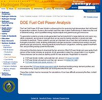 Fuel Cell Power (FCPower) Model Screenshot