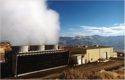 Photo of a geothermal power plant.