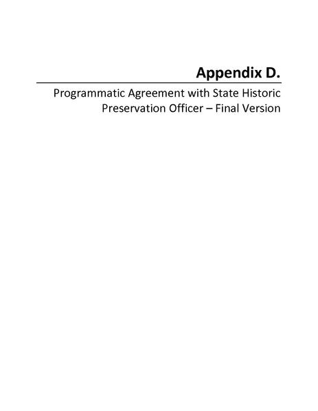 File:Tehachapi Renewable FEIS Volume III Appendix D Programmatic Agreement with State Historic Preservation Officer.pdf