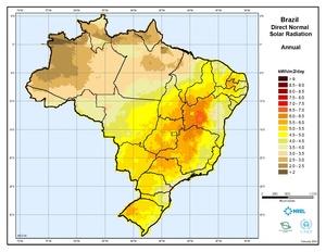 Brazil - Annual Direct Normal Solar Radiation