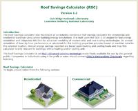 Roof Savings Calculator Screenshot