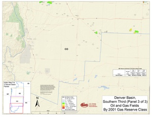 Denver Basin, South Part By 2001 Gas Reserve Class