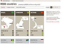REDD Country Activity Database Screenshot