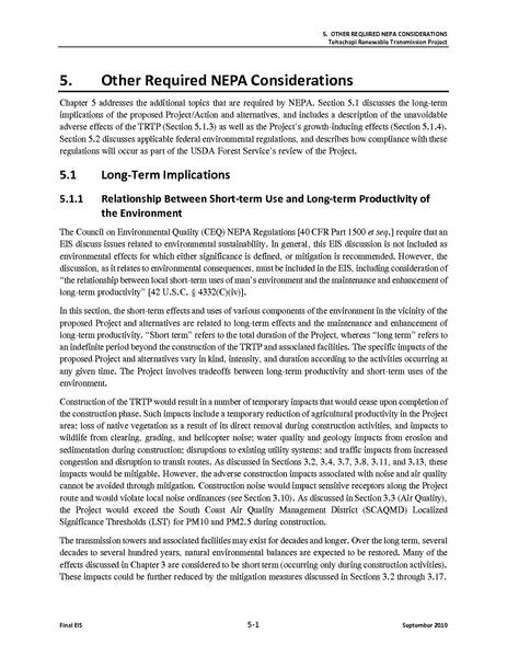 File:Tehachapi Renewable FEIS Volume II 6 Other Required NEPA and CEQA Considerations.pdf