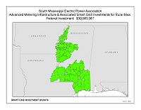 Coverage Map: South Mississippi Electric Power Association (SMEPA) Smart Grid Project