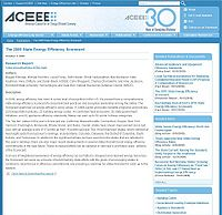 ACEEE Energy Efficiency Scorecard Screenshot