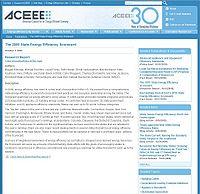 ACEEE Energy Efficiency Scorecard Screenshot