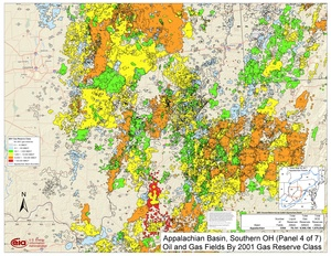 Appalachian Basin, Southern Ohio, Southwestern Pennsylvania, and Northwestern West Virginia By 2001 Gas Reserve Class