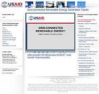 Grid-Connected Renewable Energy Generation Toolkit-Wind Screenshot