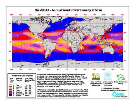 File:QuikSCAT- Annual Wind Power Density at 50m.pdf