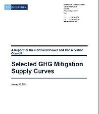 Selected GHG Emission Supply Curves Screenshot